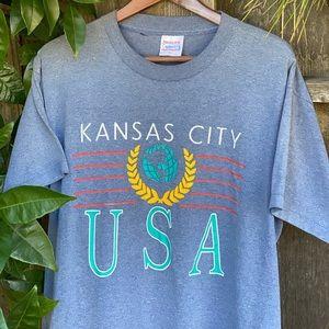 ✊✊ Vintage 90s Kansas City tee